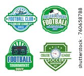 football sport club and soccer... | Shutterstock .eps vector #760658788