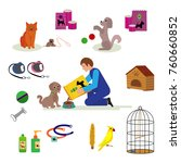 dog products and accessories... | Shutterstock .eps vector #760660852