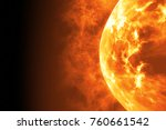 sun surface with solar flares.... | Shutterstock . vector #760661542