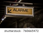 alarm sign in french in a paris ... | Shutterstock . vector #760665472