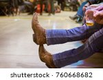 country fest  and line dance | Shutterstock . vector #760668682