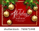 holidays greeting card for... | Shutterstock .eps vector #760671448