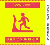 man on treadmill icon | Shutterstock .eps vector #760673416