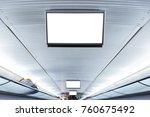 public transportation interior...   Shutterstock . vector #760675492
