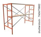 scaffolding metal construction... | Shutterstock . vector #760675882