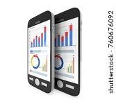 small data on smartphone.... | Shutterstock . vector #760676092