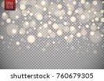 christmas shining bokeh... | Shutterstock .eps vector #760679305