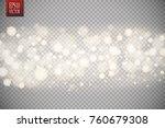 christmas shining bokeh... | Shutterstock .eps vector #760679308