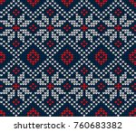 knitted seamless norwegian... | Shutterstock .eps vector #760683382