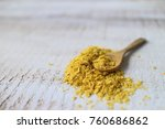 nutritional yeast  vegan cheese. | Shutterstock . vector #760686862