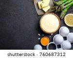 homemade basic french sauce... | Shutterstock . vector #760687312
