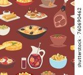 spain cuisine vector food... | Shutterstock .eps vector #760690462
