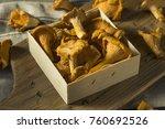 raw orange organic chanterelle... | Shutterstock . vector #760692526