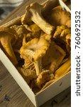 raw orange organic chanterelle... | Shutterstock . vector #760692532