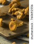 raw orange organic chanterelle... | Shutterstock . vector #760692556