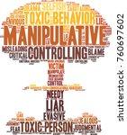 manipulative word cloud on a... | Shutterstock .eps vector #760697602