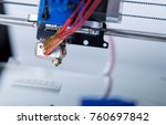 electronic three dimensional... | Shutterstock . vector #760697842