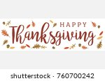 mod fall leaves happy... | Shutterstock .eps vector #760700242