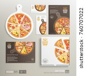 realistic pizza pizzeria flyer... | Shutterstock .eps vector #760707022