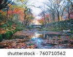 autumn at national park in korea | Shutterstock . vector #760710562