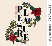 embroidery pleasure evolution... | Shutterstock .eps vector #760711186