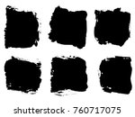 collection or set of artistic...   Shutterstock . vector #760717075