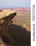 porcupine rim trail  moab  utah | Shutterstock . vector #760717216