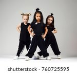 Group Of Three Young Girl Kids...
