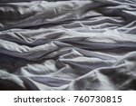 crumpled white bedclothes.... | Shutterstock . vector #760730815