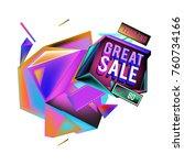 vector abstract 3d great sale... | Shutterstock .eps vector #760734166