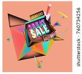 vector abstract 3d great sale... | Shutterstock .eps vector #760734256