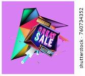 vector abstract 3d great sale... | Shutterstock .eps vector #760734352