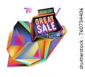 vector abstract 3d great sale... | Shutterstock .eps vector #760734406