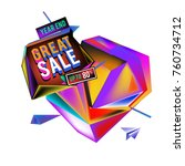 vector abstract 3d great sale... | Shutterstock .eps vector #760734712