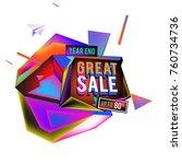 vector abstract 3d great sale... | Shutterstock .eps vector #760734736