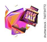 vector abstract 3d great sale... | Shutterstock .eps vector #760734772
