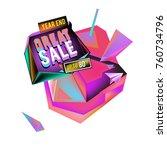 vector abstract 3d great sale... | Shutterstock .eps vector #760734796