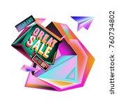vector abstract 3d great sale... | Shutterstock .eps vector #760734802