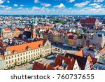 panorama of  market square in... | Shutterstock . vector #760737655