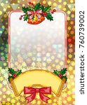 christmas  holiday background...   Shutterstock .eps vector #760739002