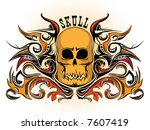 skull with swirls | Shutterstock .eps vector #7607419