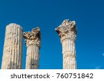 with blue sky marble columns of ... | Shutterstock . vector #760751842