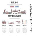 berlin travel infographics with ... | Shutterstock .eps vector #760753072