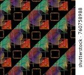 grunge geometric seamless... | Shutterstock .eps vector #760758988