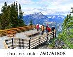 banff  alberta  canada  ... | Shutterstock . vector #760761808