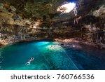 cenote samula dzitnup near... | Shutterstock . vector #760766536