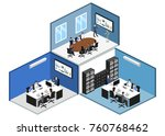 isometric 3d illustration set... | Shutterstock .eps vector #760768462