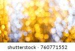 gold lights bokeh defocus... | Shutterstock . vector #760771552
