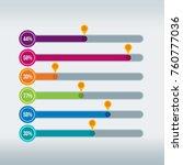 infographic displaying progress ...   Shutterstock .eps vector #760777036
