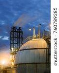 gas storage spheres tank in...   Shutterstock . vector #760789285
